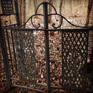 Photo by Monica R. Ashbaugh, 2/25/15 Gate to my pet cemetery